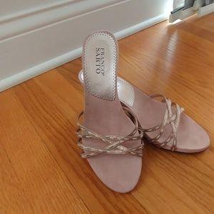 Mauve slip on shoes